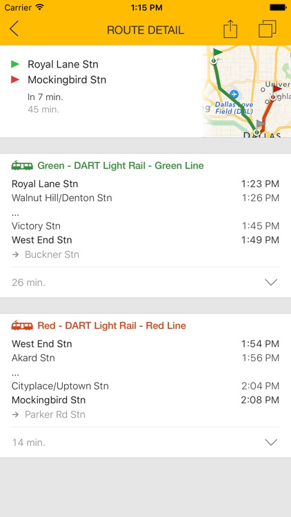 ezRide Dallas - Offline Public Transport Trip Planner screenshot-2