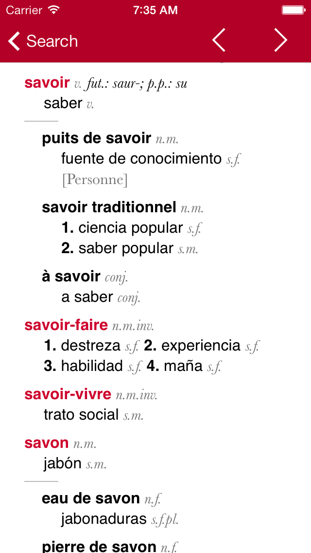 French-Spanish Dictionary from Accioのおすすめ画像2