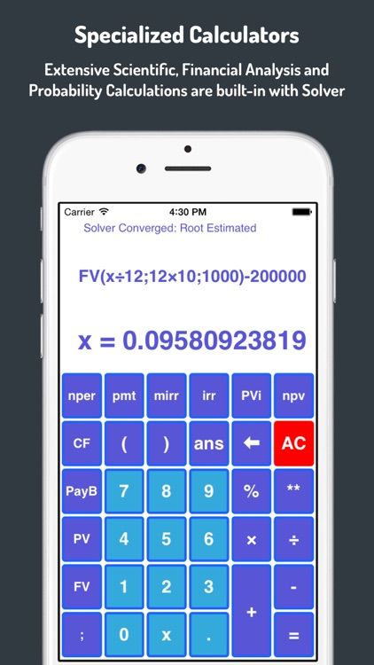 1-Calc : Graphing Financial and Scientific Calculator with Numerical Solver and Optimizer screenshot-3