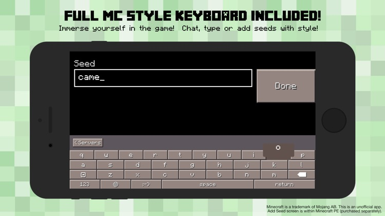 PE Servers - Custom Keyboard for Minecraft Pocket Edition screenshot-2