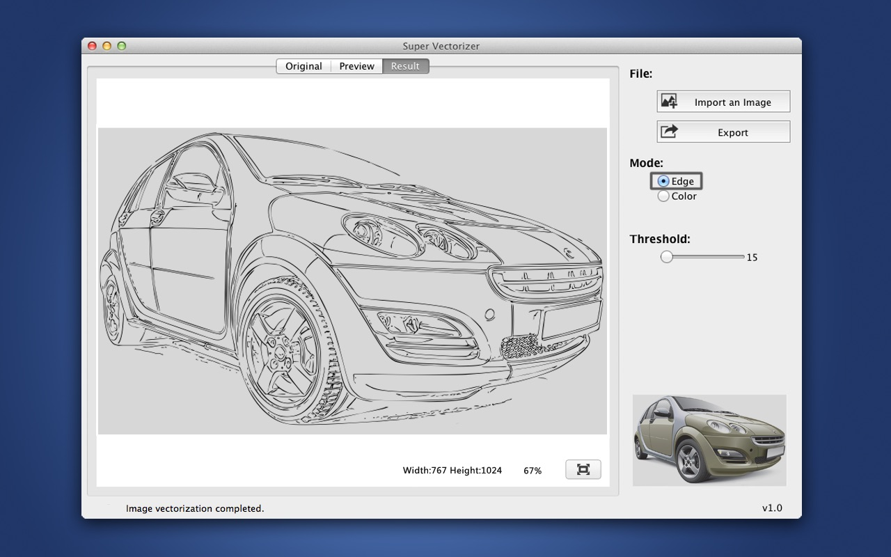 Screenshot do app Super Vectorizer - Image to Vector Graphic