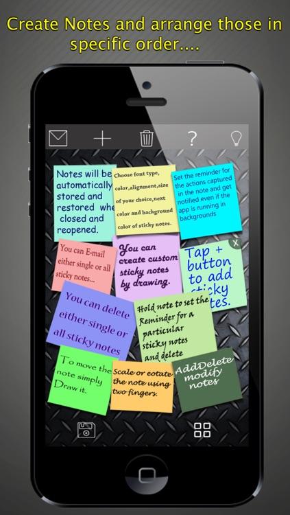 Sticky Notes>