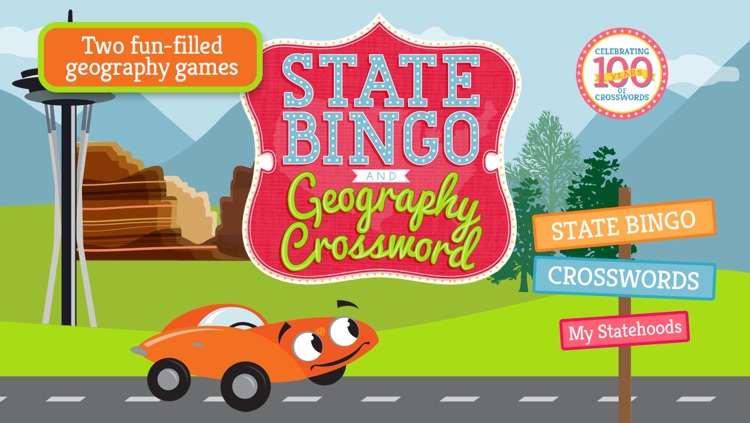 State Bingo and Geography Crossword
