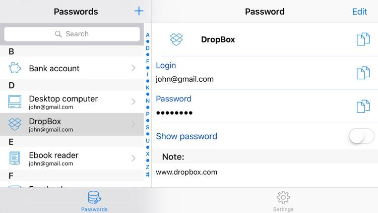 Password saver - simple password note screenshot-3