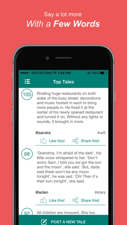 TaleHunt: Very short stories in love and fiction screenshot-4