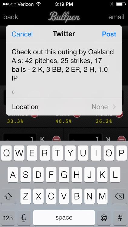 Bullpen - Baseball Pitch Counter App, Softball Pitch Count App, and Scorekeeping App screenshot-4