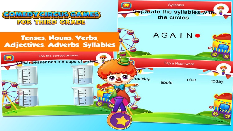 Third Grade Games with the Circus School Edition screenshot-3
