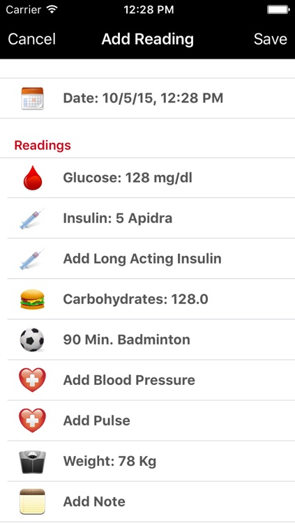 DiabetesPlus screenshot-1