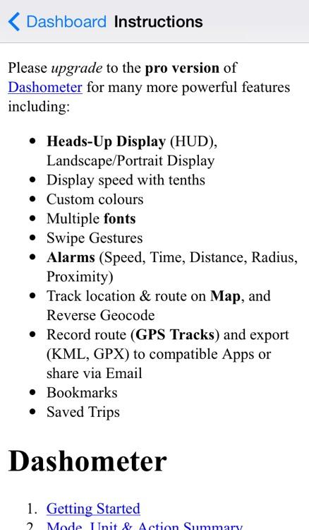 Dashometer-Lite GPS Dashboard screenshot-3