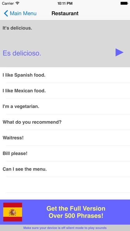 Speak Spanish Travel Phrasebook Lite