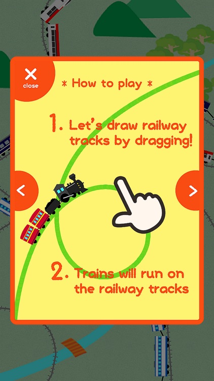 Let's play with the trains!