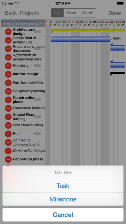 Project Planner - Gantt app screenshot-4