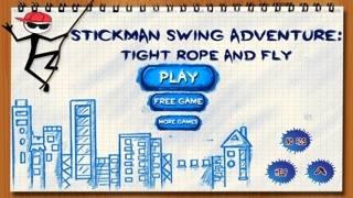 Stick-man Swing Adventure: Tight Rope And Fly Screenshot on iOS