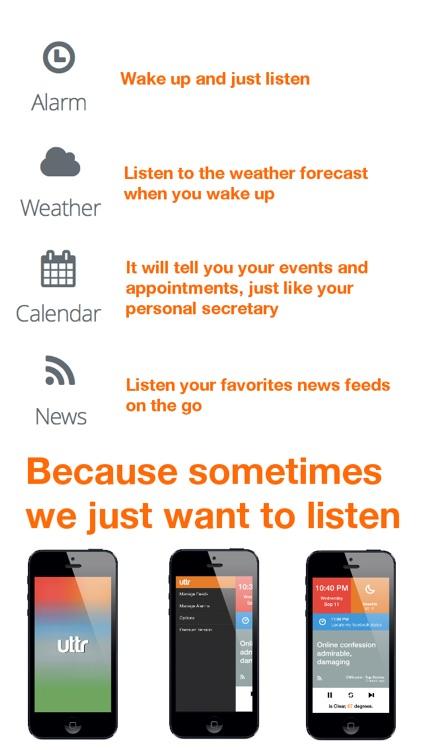 Uttr - Listen to news, weather and calendar