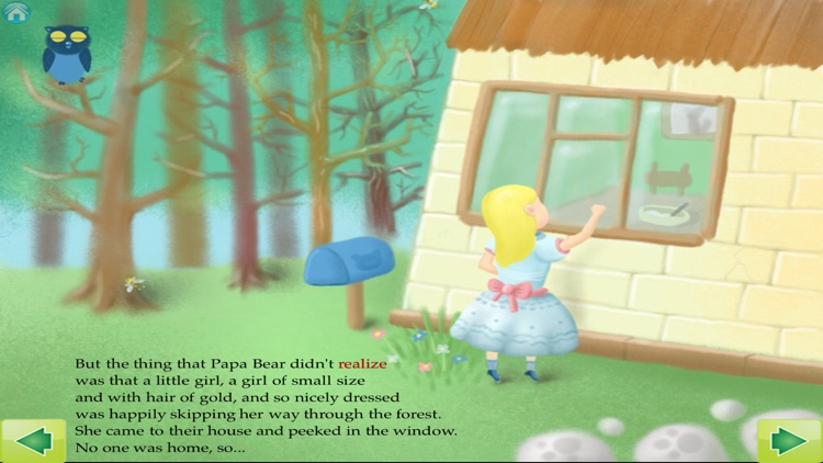 Goldilocks and The Three Bears Interactive Storybook for Children