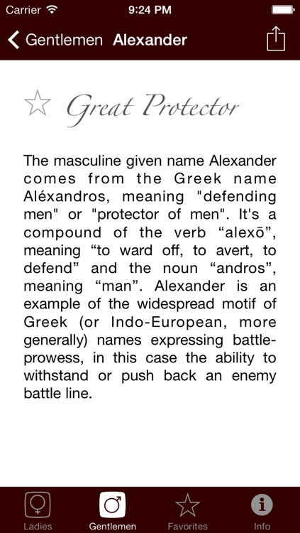 Namer - The Origin of Names