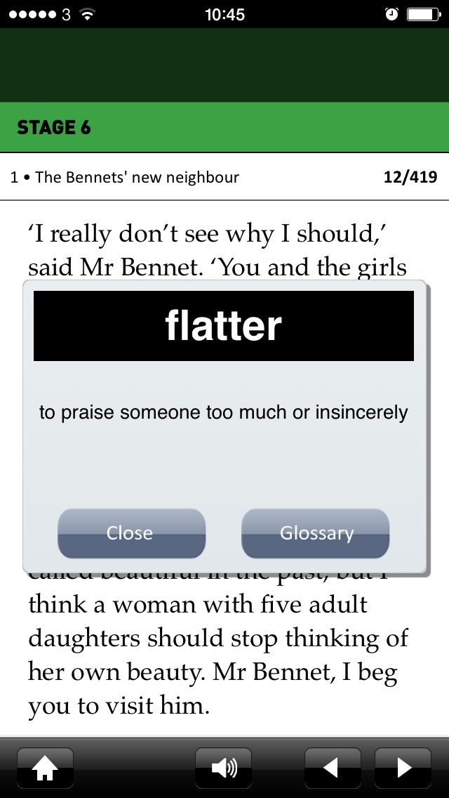 Screenshot for Pride and Prejudice: Oxford Bookworms Stage 6 Reader (for iPhone) in Ecuador App Store