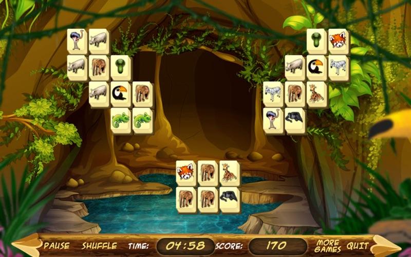 Wild Africa Mahjong screenshot 2