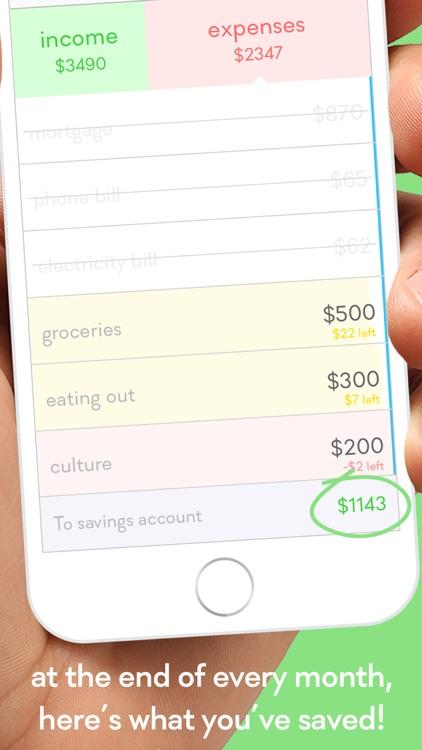 monthly - budget planner w/ 1-SWIPE expense tracker screenshot-4