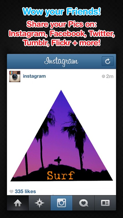 Insta Shapes Pro - Snap pics and shape photos with groovy patterns, ig symbols & fab deco shapes! screenshot-3