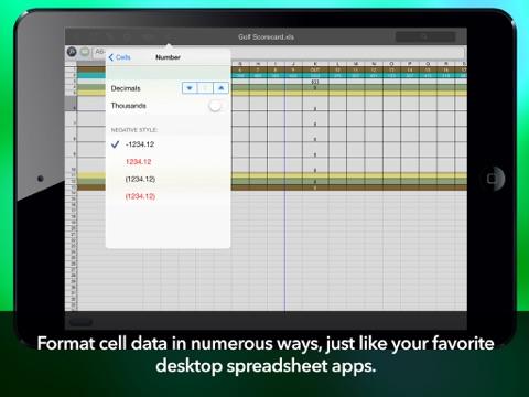 Calc XLS Free Spreadsheet screenshot