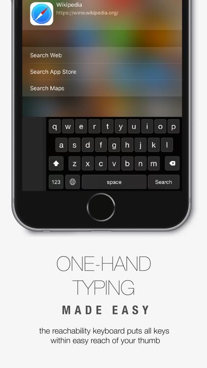 Reachability Keyboard - One-Hand Typing + EMOJI