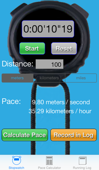 Running Pace Log