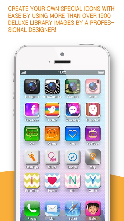 One touch call, Apps, home screen shortcut icon ( iFavorite Pro : for Instagram camera, Snapshat, WhatsApp and iOS7 ) screenshot-3