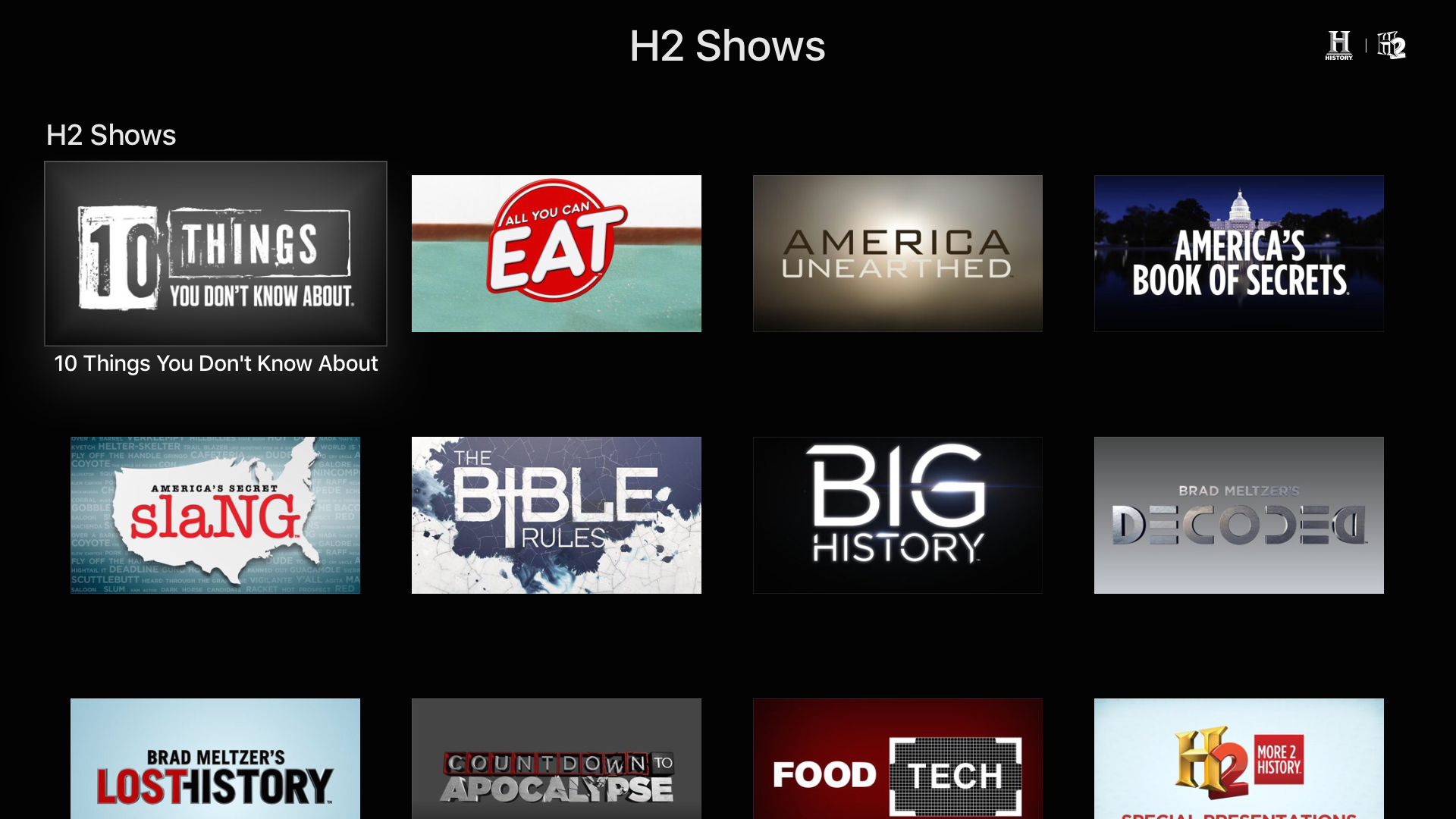 HISTORY: TV Shows on Demand screenshot 12