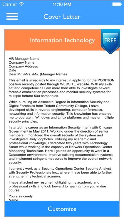 Free Resume Builder App - Professional CV Maker and Resumes Designer screenshot-3