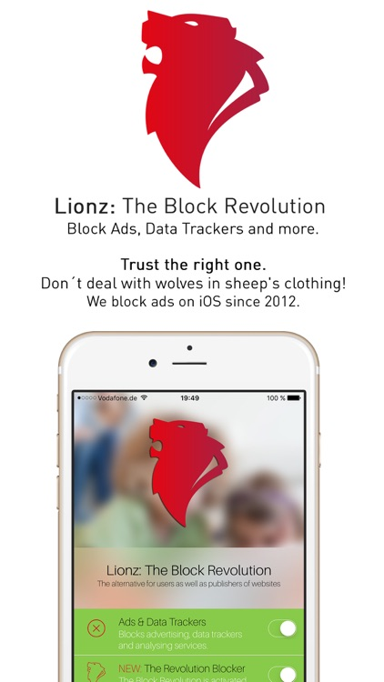 Lionz: The Block Revolution - Ad-Blocker for Safari - Block Ads, Data Trackers and more