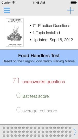 Screenshots  Food Handlers Test Answers