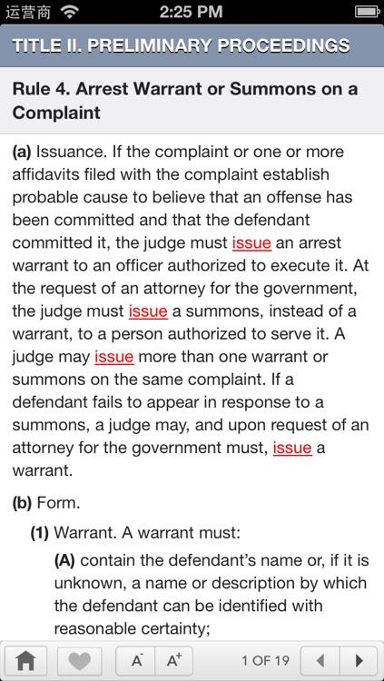FRCP: Federal Rules Of Criminal Procedure screenshot-4