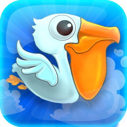 A Flappy Flying : Splashy Ocean Pelican Fish Catcher Island - Full Version