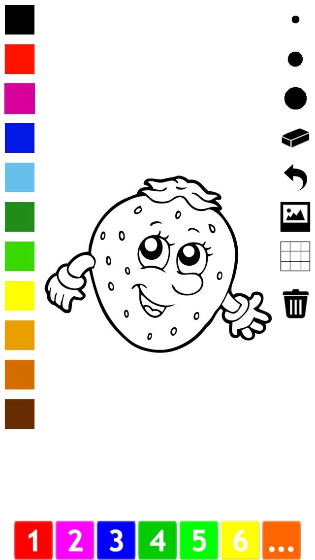Libro para colorear de frutas y verduras para los niños | Spanish ...