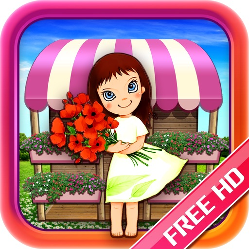 Gold Designer Flower Girl Free HD
