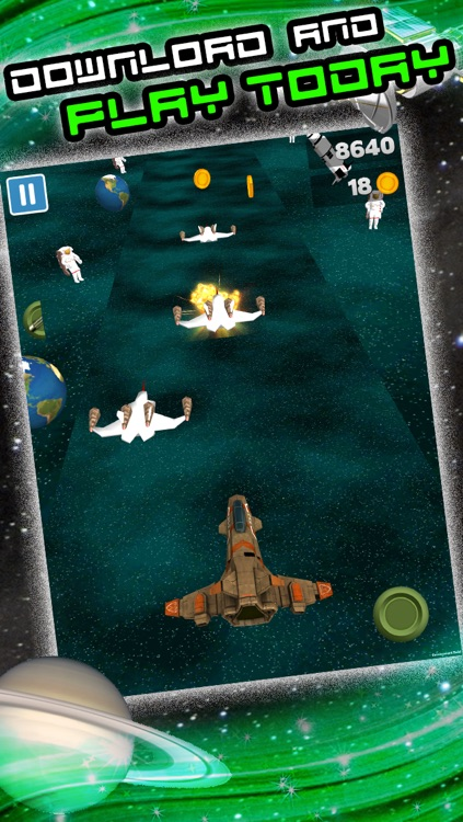 3D Space Craft Racing Shooting Game for Cool boys and teens by Top War Games FREE screenshot-4