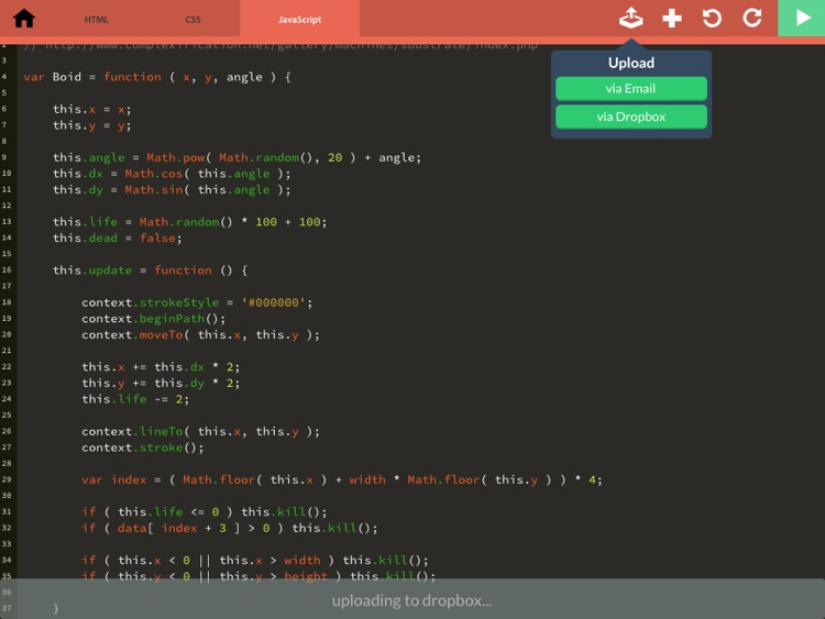 Codepad - HTML/CSS/JS programming tool screenshot-2