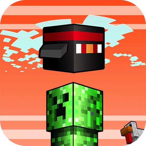 Flappy Block Mobs - Survival Flyer