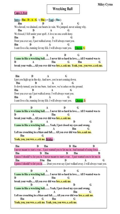 Lyrics, Chords & Guitar Playbacks