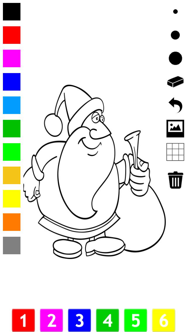 塗り絵の本 子供のためのクリスマスのサンタクロース、雪だるま、エルフや贈り物のような多くの写真とともに。絵を描画する方法:学ぶためのゲームのおすすめ画像2