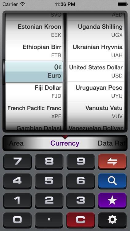 gUnit - Currency & Unit Converter (Conversion) screenshot-0