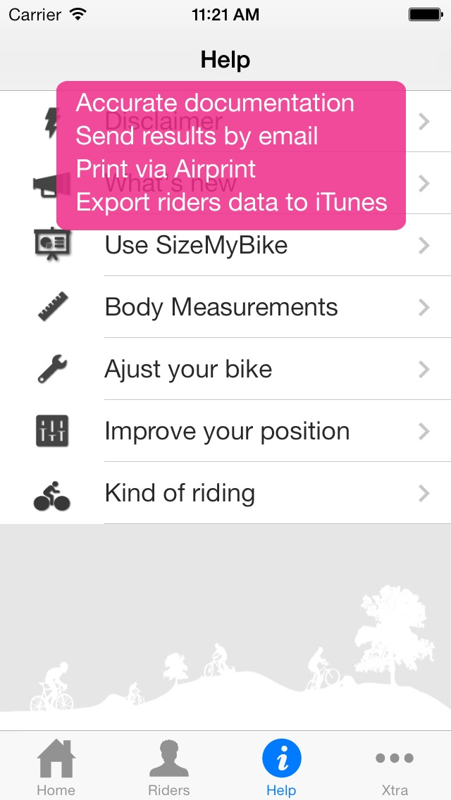 SizeMyBike screenshot1