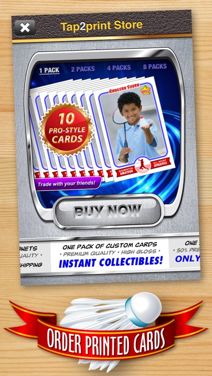 Badminton Card Maker - Make Your Own Custom Badminton Cards with Starr Cards screenshot-4