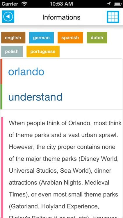 Orlando & Walt Disney World Resort offline map, guide, hotels screenshot-4