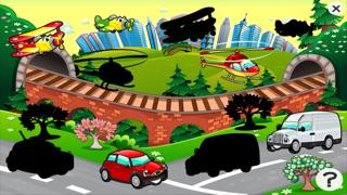 Auto-Lernspiel für Kindergarten, Vorschule und Schule: Spiele, Übungen, Puzzle und Lernen für Kinder von 2-5 und die Fahrzeuge der Stadt wie Autos, Zug, Flugzeug, Helikopter, Strassen und mehr kostenlos.Screenshot von 4