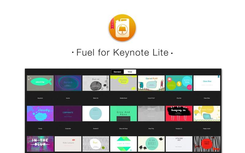 Fuel for Keynote Lite - Themes & Templates for Keynote Presentations скриншот программы 1