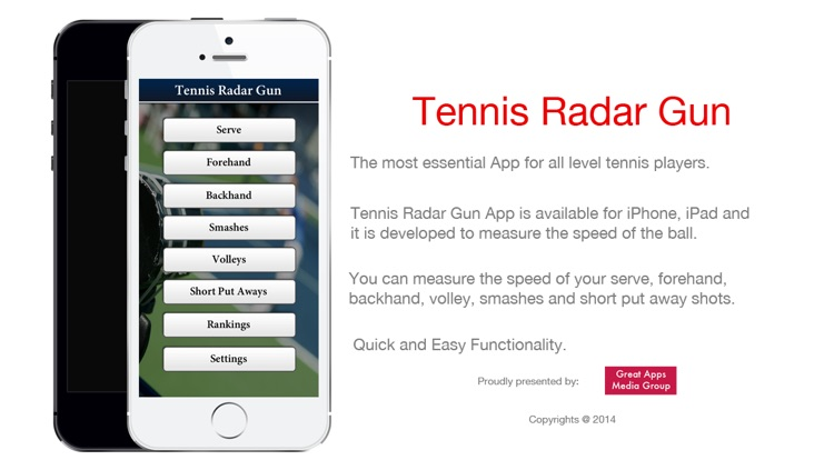 Tennis Radar Gun - Measure the speed of the Ball screenshot-0