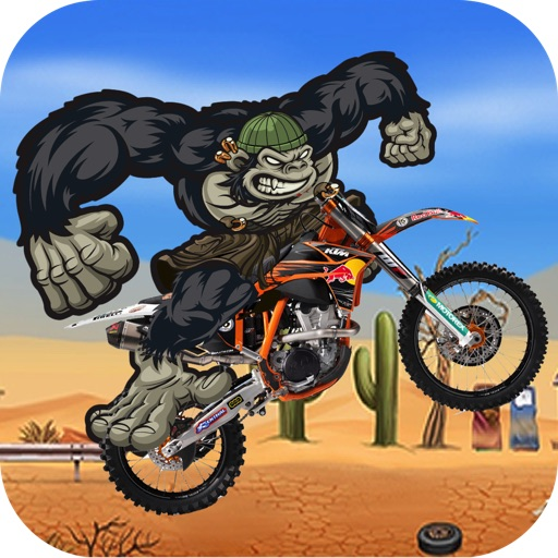 Gorilla Run - Multiplayer Moto Race In a Fun Match