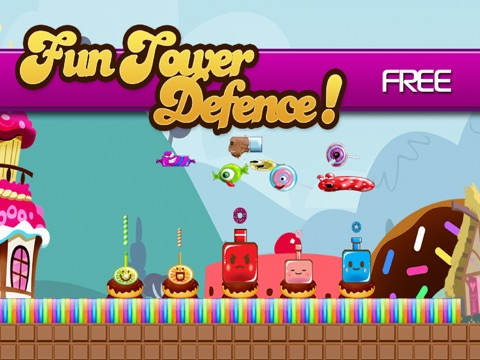 Candy Land Defense - Fun Castle of Fortune Shooting Game FREE-ipad-0
